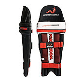 Woodworm Firewall Gamma Cricket Batting Pads - Mens Right Hand + Left Hand - Black
