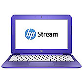 HP Stream 11-r001na, 11.6-inch Laptop, Intel Celeron N3050, 2GB RAM, 32GB, 100 GB OneDrive - Violet purple