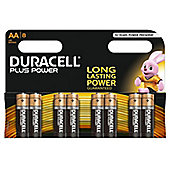 Duracell AA LR6 Plus Power Batteries (Pack of 8)