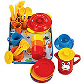 Gowi Toys 454-10 Coffee Service (Blue - 39 Piece Set)
