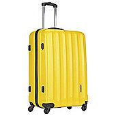 Luggage Zone Hard 4-Wheel Large Gloss Yellow Suitcase