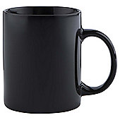 Tesco Plain Single Stoneware Mug, Black