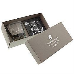 Usher Gift Set - Whisky Glass and Coaster