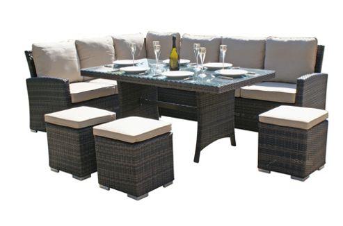 Buy Maze Rattan Kingston Corner Dining Set From Our Garden Furniture Sets Ran
