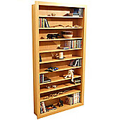 Techstyle Large CD / DVD / Video Storage Shelves - Beech