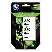HP 339 2-pack Inkjet Print Cartridges - Black