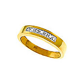 QP Jewellers 0.02ct I-3 Diamond Princess Prestige Ring in 14K Gold