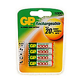 GP 100AAAHC 4 Pack AAA Rechargeable Batteries