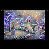 Thomas Kinkade Heart of Christmas Illuminated Hanging Tapestry