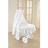 Leipold Lollipop Wicker Drape Crib in White