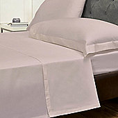 Julian Charles Percale Heather Luxury 180 Thread Count Flat Sheet - King Size