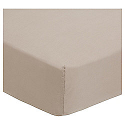 Mocha Cotton Rich King Size Fitted Sheet