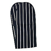 Rushbrookes Classic Butcher's Stripe Double Oven Glove, Navy