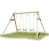 TP Toys Triple Round Wood Swing Set with Deluxe Swing Seats