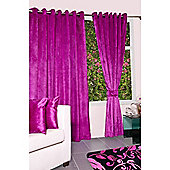 KLiving Eyelet Verbier Lined Curtain 45x90 Hot Pink