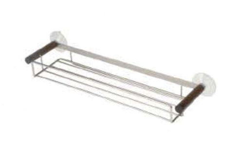Möve Combo Metals Shower Rack in Walnut