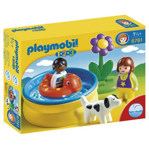 Playmobil Children with Paddling Pool