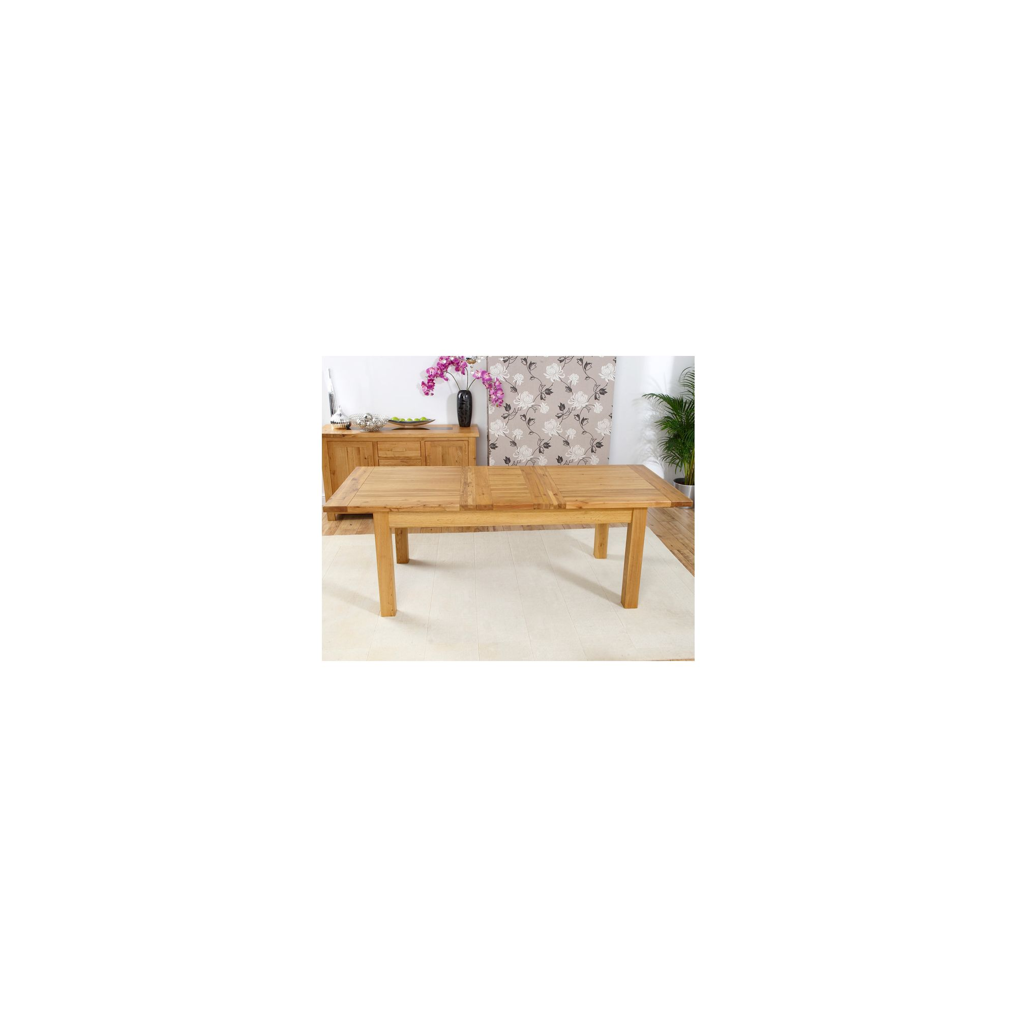 Mark Harris Furniture Rustique Classical Solid Oak Dining Table - 120 cm