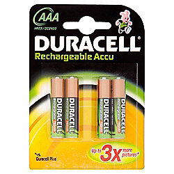 Duracell Rechargeable Accu HR03 750 Mah AAA Batteries