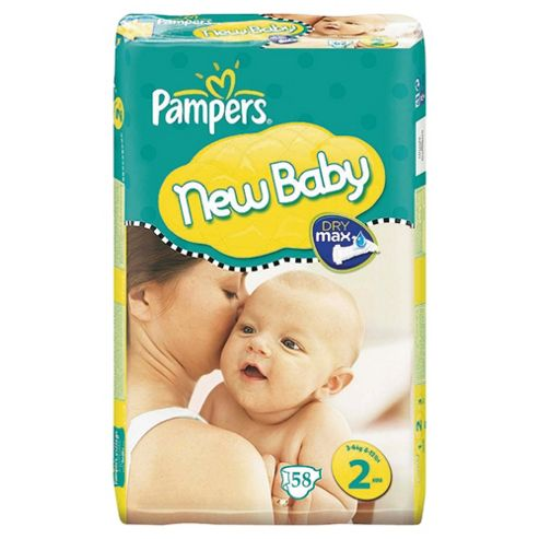 Pampers New Baby Size 2 (Mini) Economy Pack 58