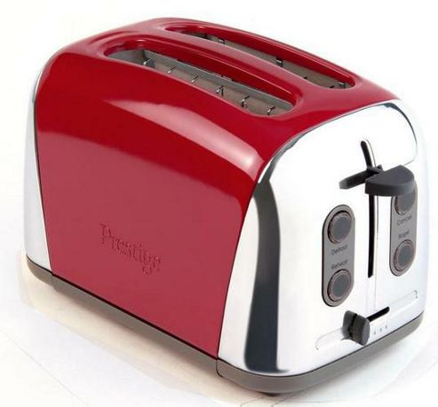 Meyer Prestige Deco 2 Slice Pillar Box Toaster Red
