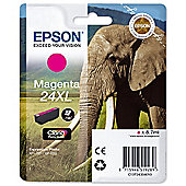 Epson Elephant 24XL (non-Tagged) High Capacity (Yield 740 Pages) Ink Cartridge (Magenta) for Epson Expression Photo: XP-750 / XP-850
