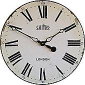 Roger Lascelles Clocks Smiths Wall Clock - White