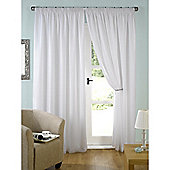 KLiving Evie Lined Pencil Pleat Voile Curtains 90x90 White