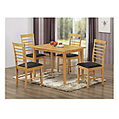 Elements Athens 5 Piece Oak Dining Collection
