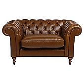 Chesterfield Loveseat Antique Saddle