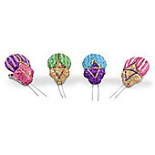 Set of Four Vibrant Coloured Clip-on Beetle Decorations