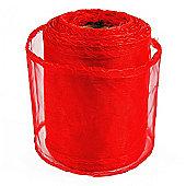 Ribbon Organza sheer Fabric - Red - 20yards