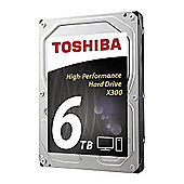 """Toshiba X300 6TB 7200RPM 128MB 3.5"""" SATA Hard Drive"""