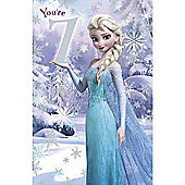 Disney Frozen Birthday Card - 7 Years