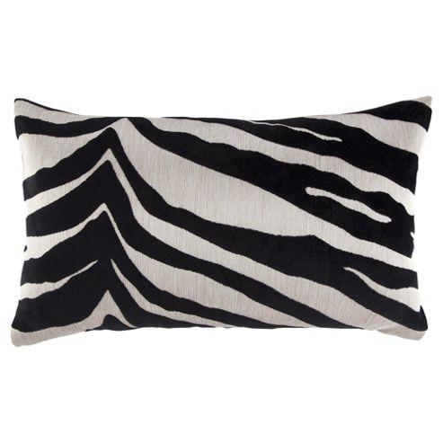 Tiger Stripe Cut Velvet Black