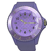 Tresor Paris Watch 018810 - Stainless Steel Bezel - Silicone Strap - Diamond Set Dial - 36mm - Lilac