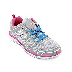 Woodworm Sports Fws Ladies Running Shoes / Trainers Grey/Pink Size 4