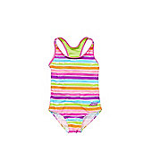 Zoggs Striped Swimsuit - Multi