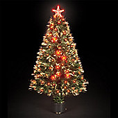 120cm/4ft Red Saturn Fibre Optic Christmas Tree with 130 LEDs