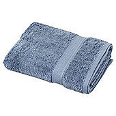 Egyptian Cotton Chambray Blue Hand Towel