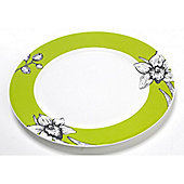 Roy Kirkham Floral Art Single Bone China Tea Plate, Lime Green