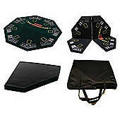 "Cq Poker Folding Table Top 48"" 1.2M W/ Chip/Cup Holders Blackjack Texas Holdem"