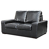 Global Furniture Direct Pocket Sprung Bonded Leather 2 Seater Sofa - Black