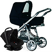 Bebecar Ip-Op I-Basic Chrome CT Travel System (Black)