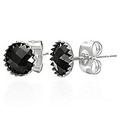 Urban Male Black Round 6mm CZ Stud Earrings For A Man