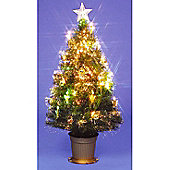 6ft Golden Grace Fibre Optic Christmas Tree
