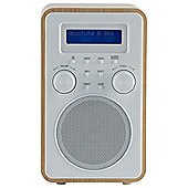 Tesco DAB & FM Radio Wood/White