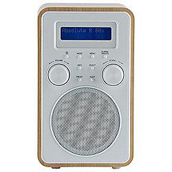 Tesco DAB & FM Radio Wood/White