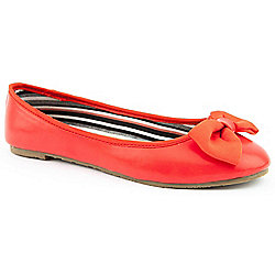 Emilio Luca X Ladies Tropez Red Ballerina Shoes