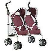 Silver Cross Pop Duo Dolls Twin Pushchair - Aubergine